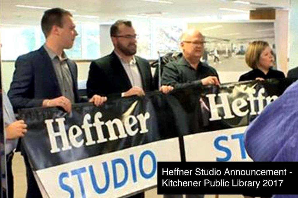 Heffner Studio Announcement at Kitchener Public Library